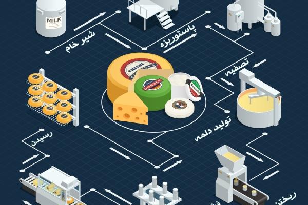 چرخه تولید پنیر